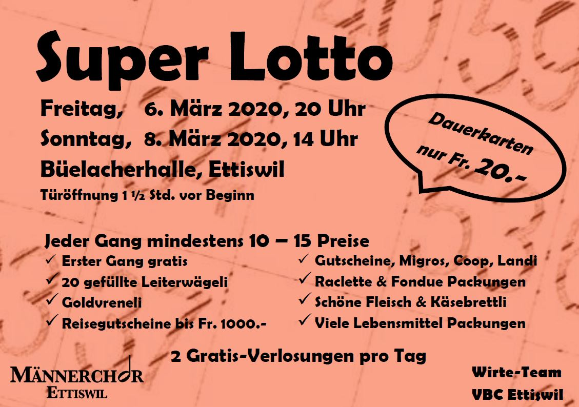 Super Lotto Maennerchor Ettiswil